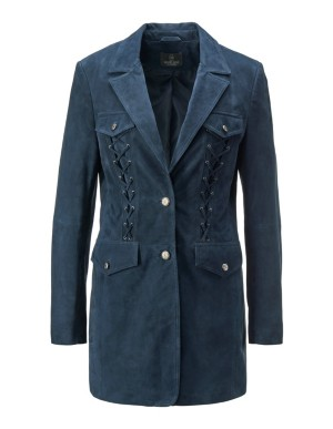 Suede frock coat