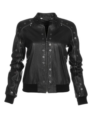 Leather jacket, nappa lamb