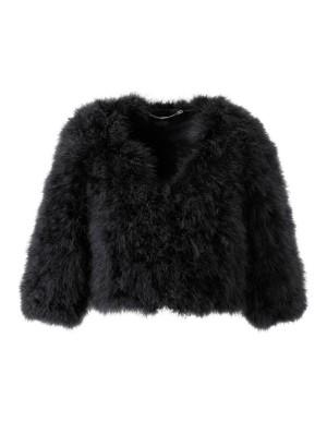 Feather bolero jacket
