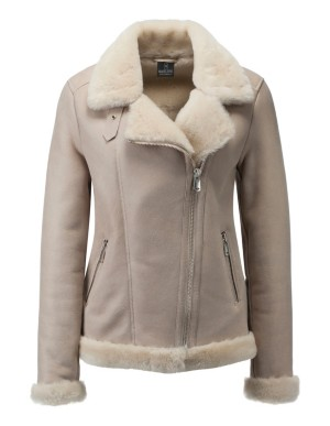 Biker-style lambskin jacket with asymmetric zip
