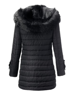 Padded Tuscan lambskin and quilted coat