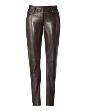 Nappa lamb leather trousers