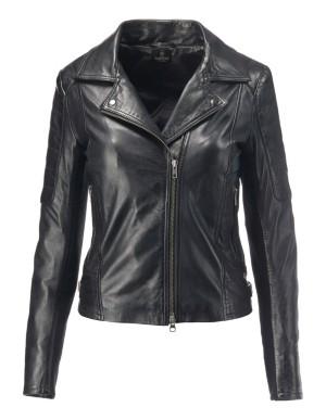 Nappa lamb biker jacket