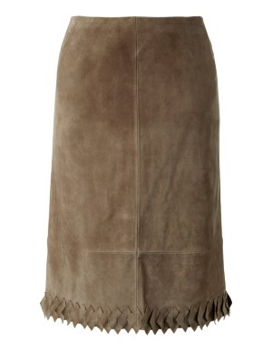 Kid suede skirt