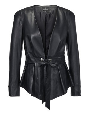 Nappa lamb leather blazer