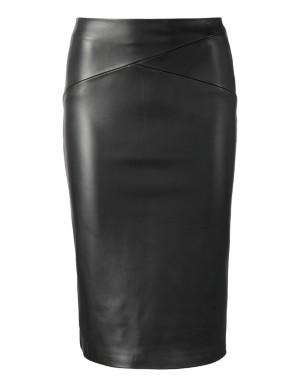 Nappa lamb leather skirt