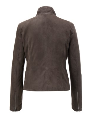 Short suede leather jacket