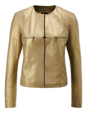 Nappa lamb leather jacket