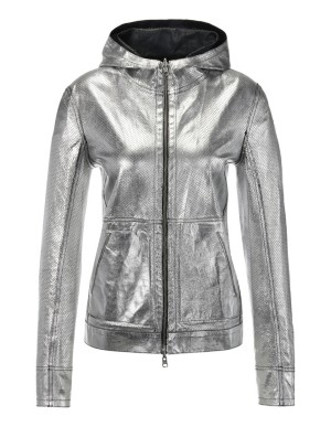 Reversible nappa lamb leather jacket