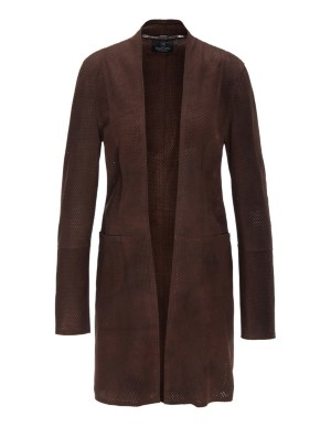Kid suede frock coat