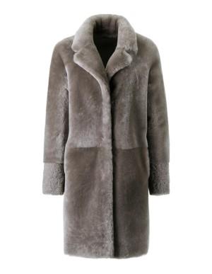 Reversible nappa leather coat