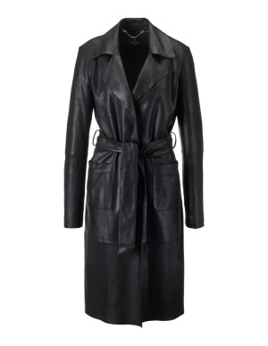 Lightweight nappa leather coat