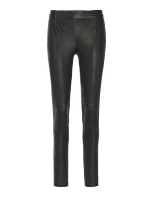 Nappa leather and jersey trousers