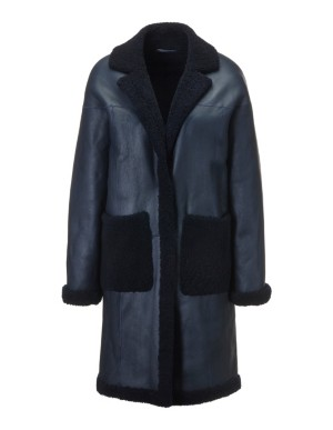 Oversized lambskin coat