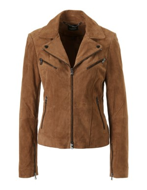 Semi-fitted suede jacket