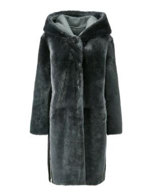 Reversible lambskin coat