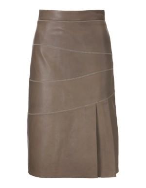Nappa leather high-waisted skirt