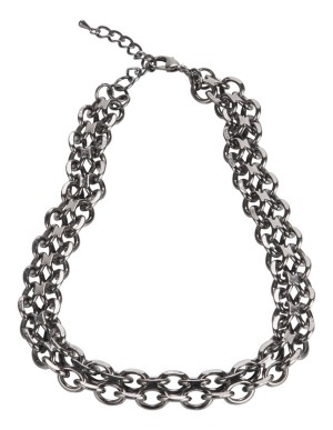 Double-stranded chain necklace