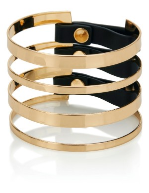 Leather strap and metal bracelet