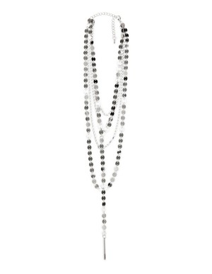 Five-strand metal necklace