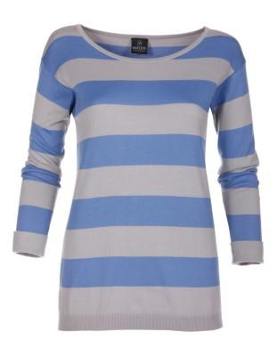 Streifen-Pullover aus feiner Pima Cotton