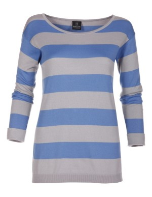 Striped jumper made from fine pima cotton
