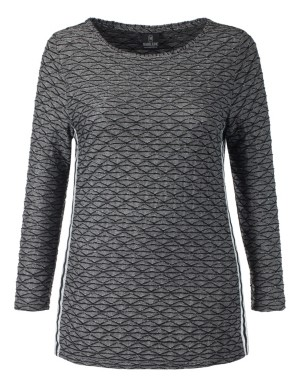 Black and grey jersey top