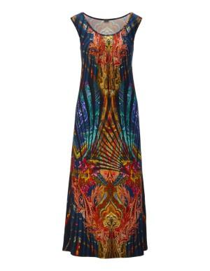 Sleeveless maxi beach dress