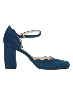Scalloped-edge heels