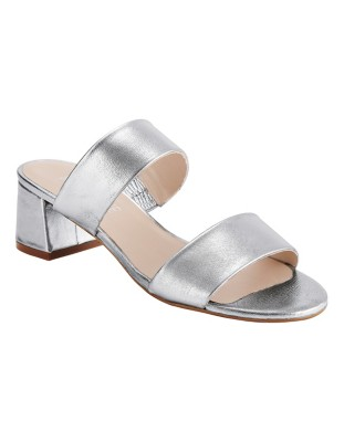 Shimmering leather mules