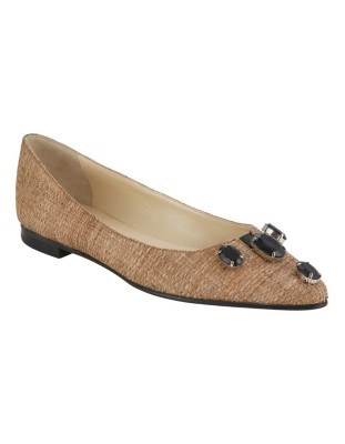 Ballet flats with ornamental stones