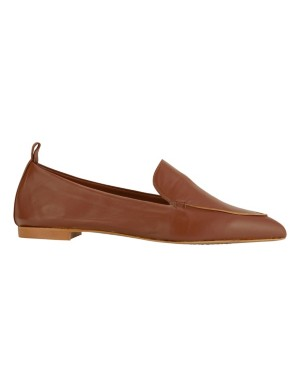Pointed soft leather loafers