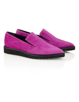 Extremely light soft suede loafers