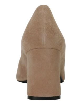 Soft suede heels