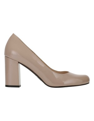 Gleaming block heels