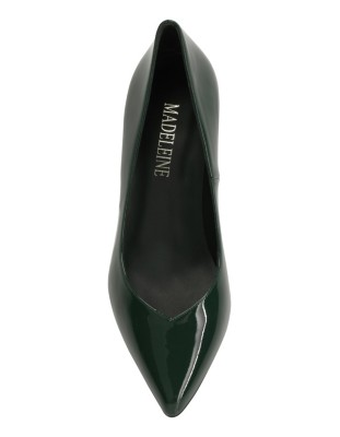 Pointed patent leather heels