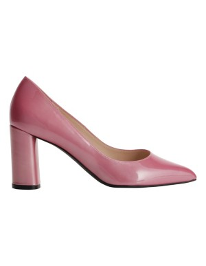 Block patent leather heels
