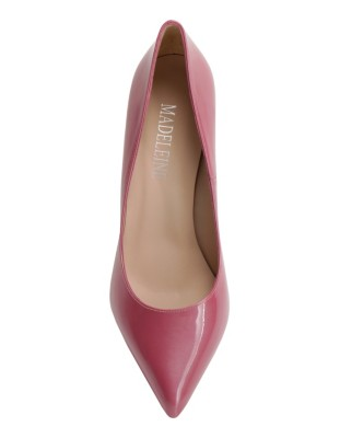 Block patent leather heels