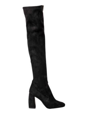 Suede look sock boots