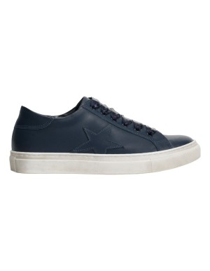 Star motif leather trainers