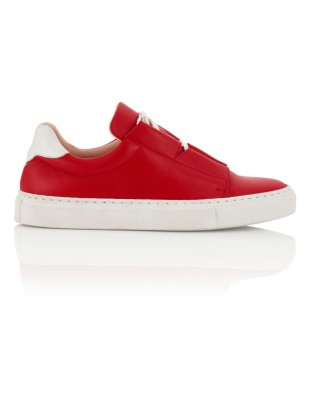 Soft leather trainers