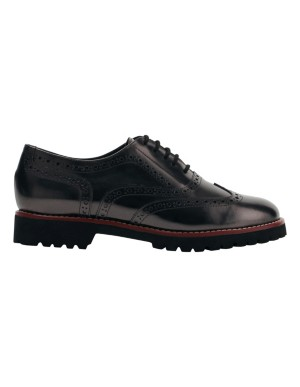 On-trend shiny leather brogues