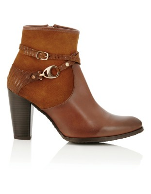 Ankle boots with decorative strap details