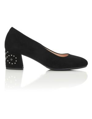 Stud-adorned court shoes