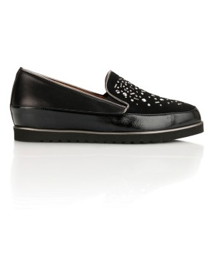 Embellished wedge loafers