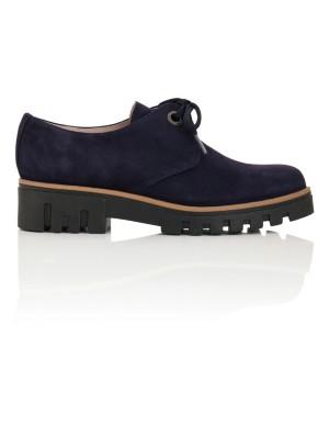 Soft suede lace-up shoes