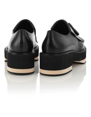Platform fringed tongue loafers with tassel detail