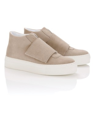 Soft suede trainers
