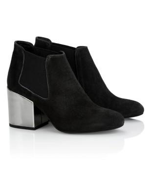 Metallic heel Chelsea boots