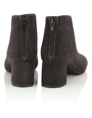 Soft suede ankle boots